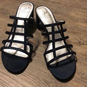 ADRIANA PAPPEL Navy  Blue Sandals.